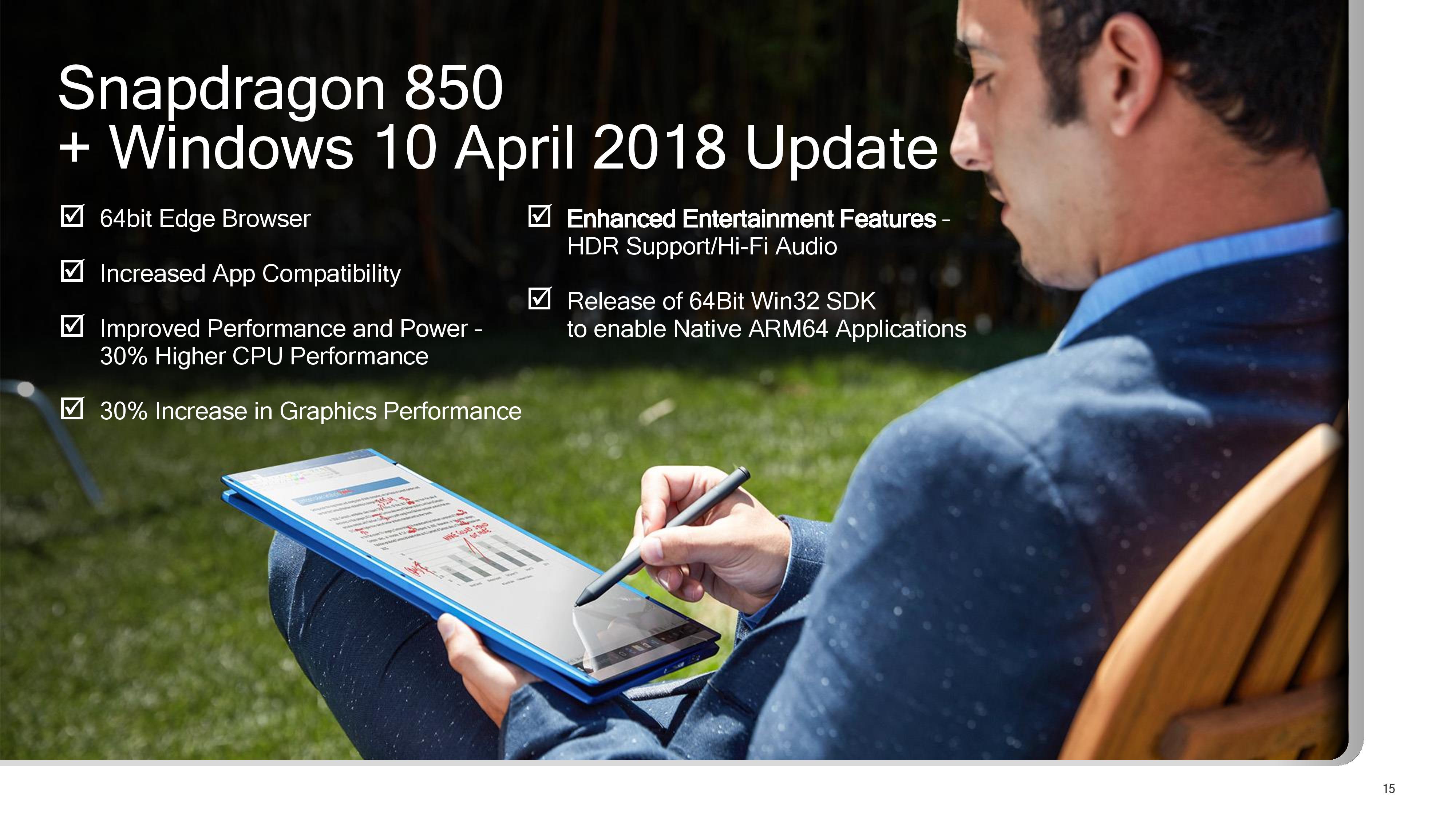 Qualcomm announces Snapdragon 850 Mobile processor for Always Connected Windows 10 PCs 2