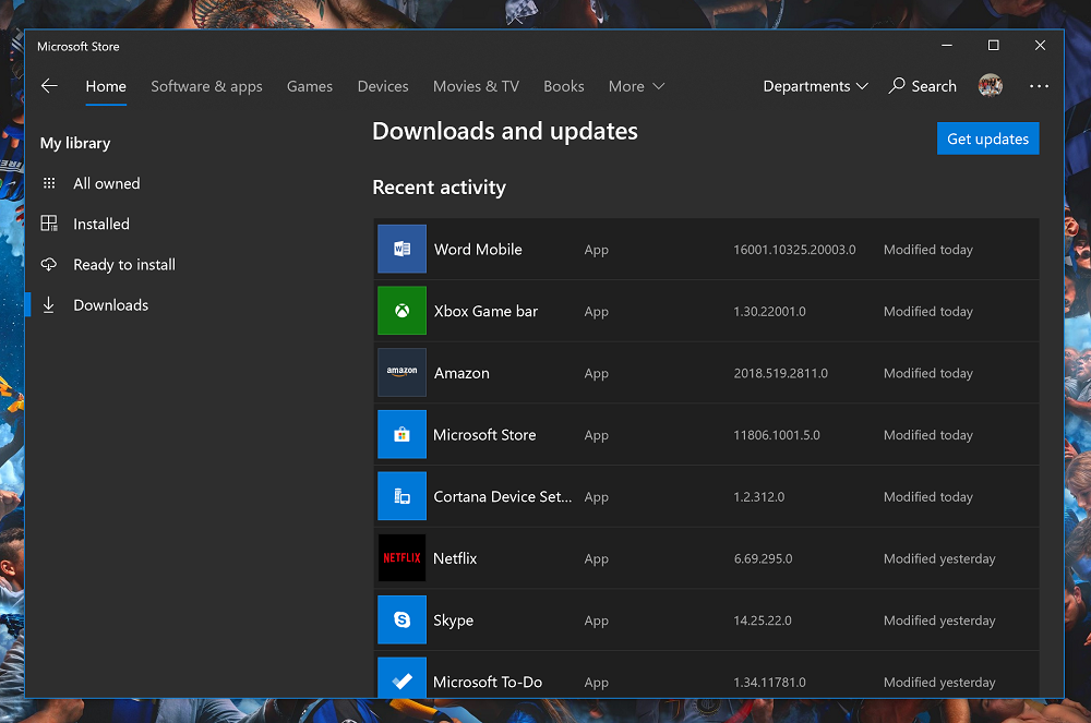 Microsoft Store app updated with My Collections feature, more