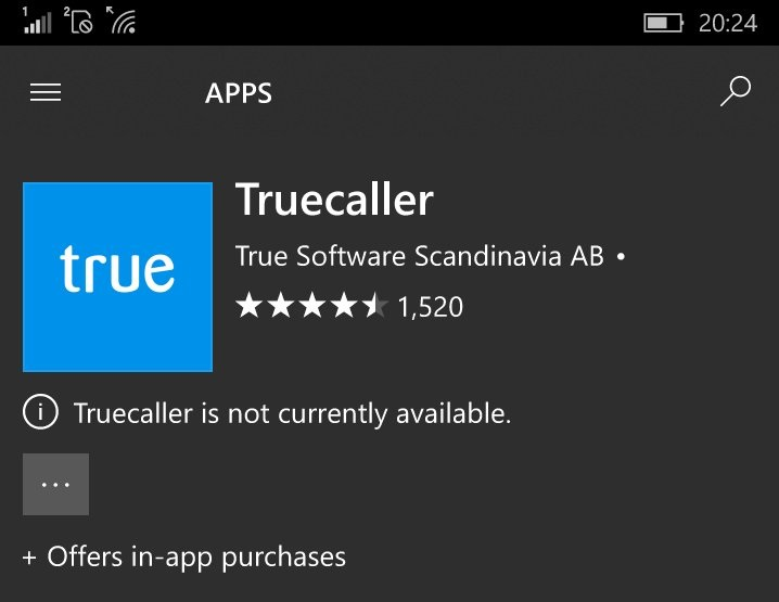 Truecaller CallerID app hangs up on Windows Phone - MSPoweruser