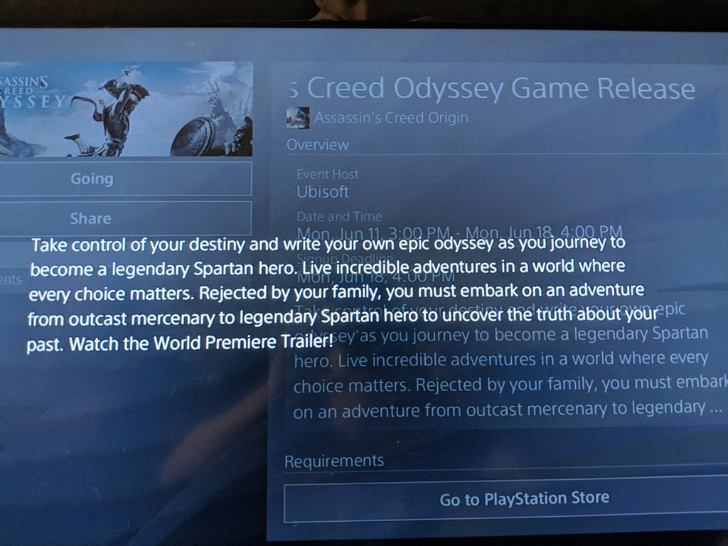 Assasin's Creed Odyssey leaked description confirms protagonist to be 'Spartan hero'