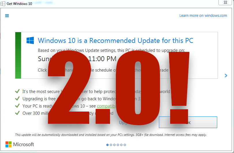 GWX 2 0 - Microsoft getting ready to harass Windows 10 users to