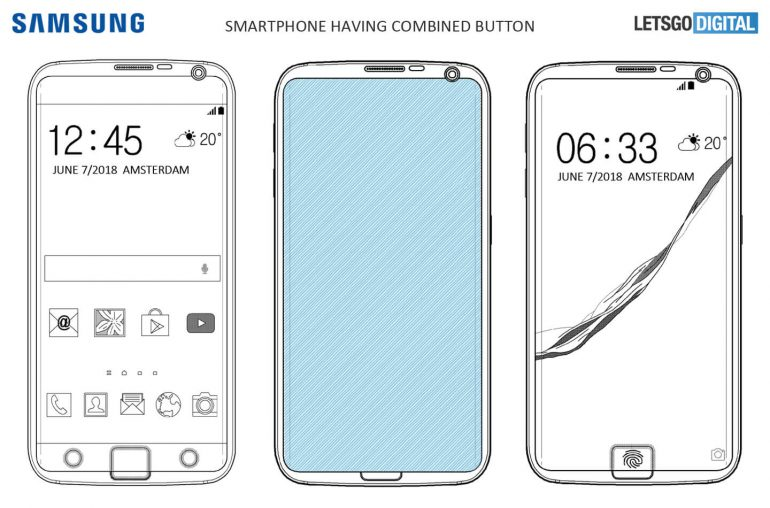 New Samsung patent shows a new take on in-display fingerprint sensor