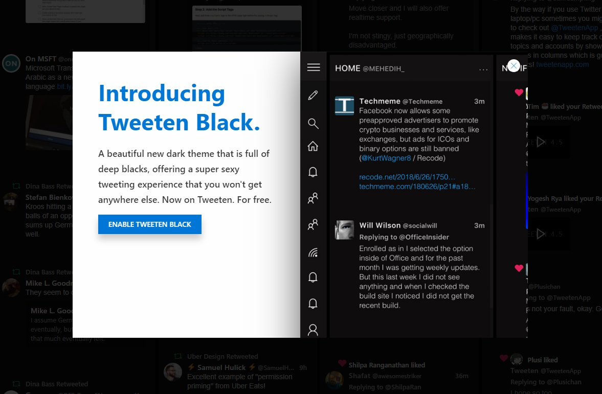 Alternative Twitter client Tweeten updated to v4 5 with new