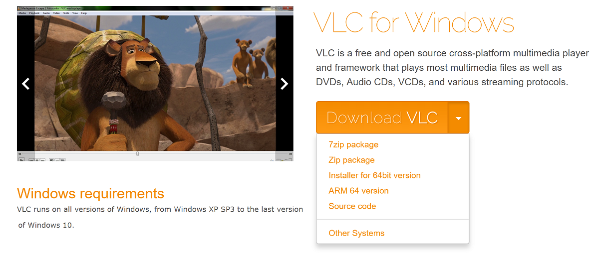 Native ARM64 version of VLC now available for Windows 10 on ARM PCs