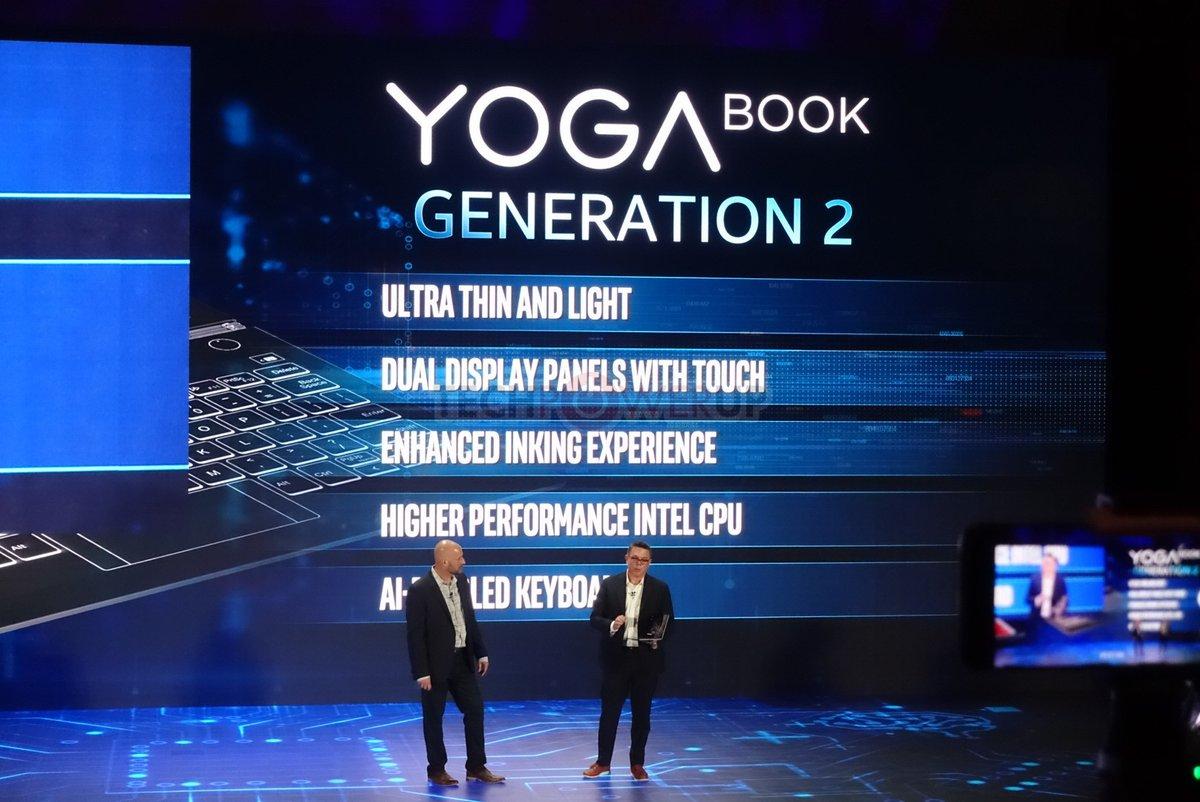 Lenovo confirms dual-screen Yoga Book 2 is coming - MSPoweruser