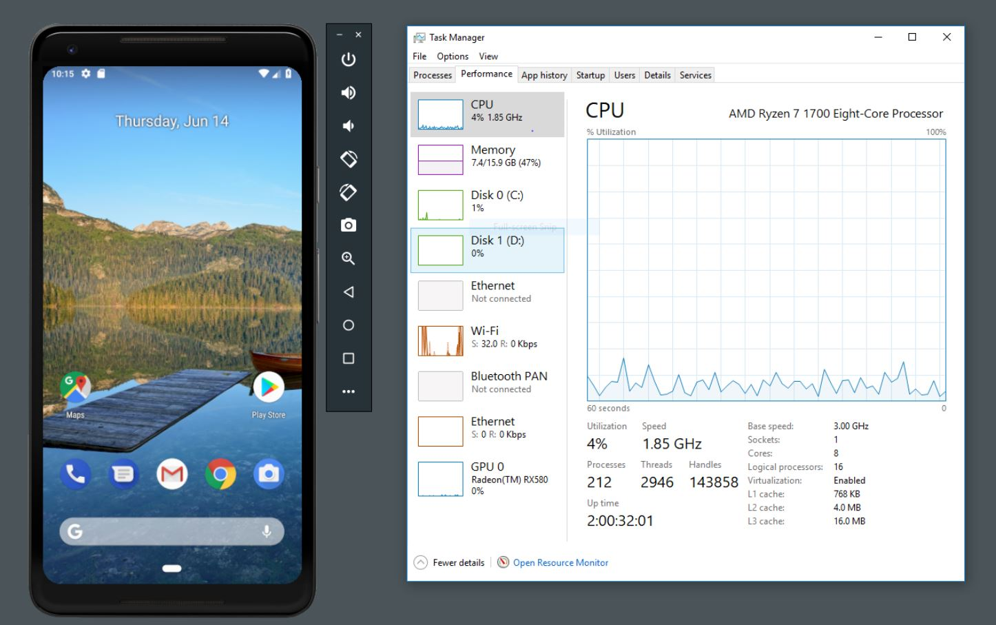 Google Android Emulator now supports AMD processors and