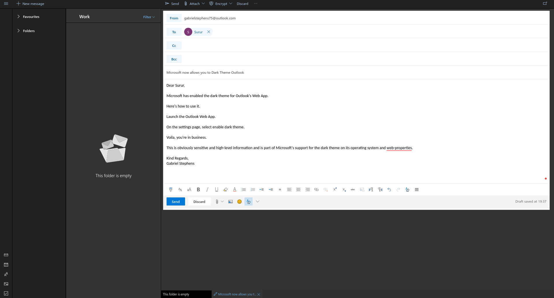 you can now dark theme outlook on the web here s how to mspoweruser