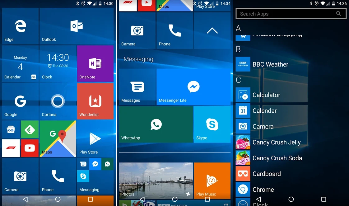Windows Phone Like Launcher For Android
