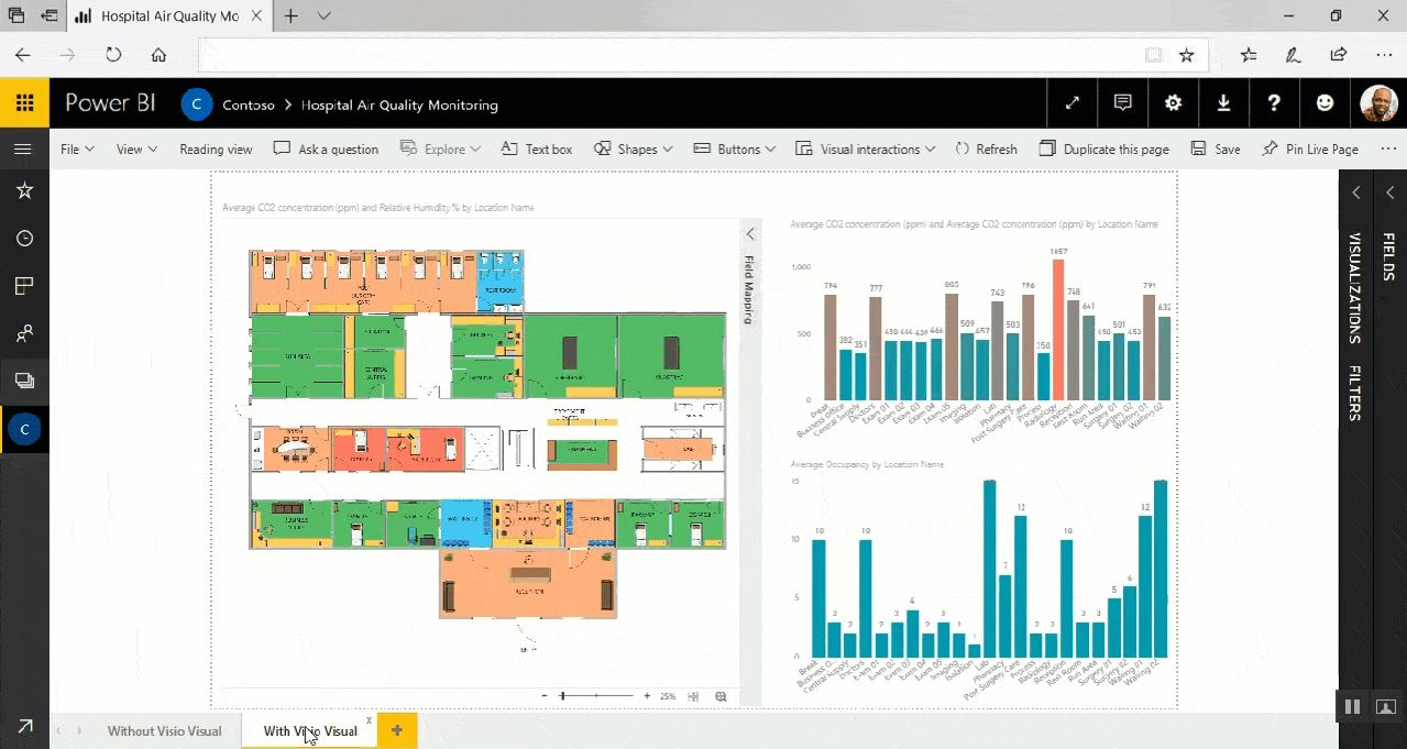 Visio Visual for Power BI now available for everyone