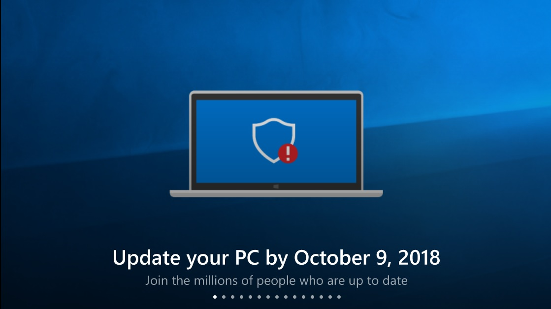 Microsoft encouraging Windows 10 users on older versions of the OS to upgrade 1