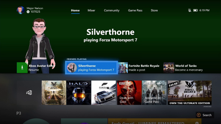 photo image Xbox Insiders in the Skip Ahead ring will now see Avatars on the dashboard and more features starting tonight