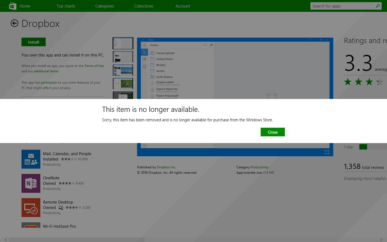 Dropbox also drops support for Window 8 1 - MSPoweruser