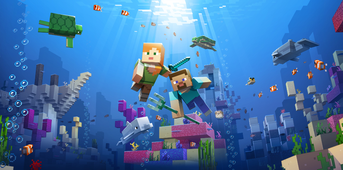Minecraft's Update Aquatic is now live on Xbox One - MSPoweruser