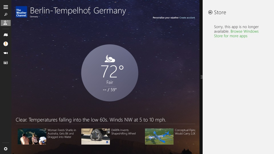 the weather channel app joins the windows 8 1 app exodus