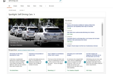 Microsoft Bing's new spotlight feature provides overviews of news topics 1