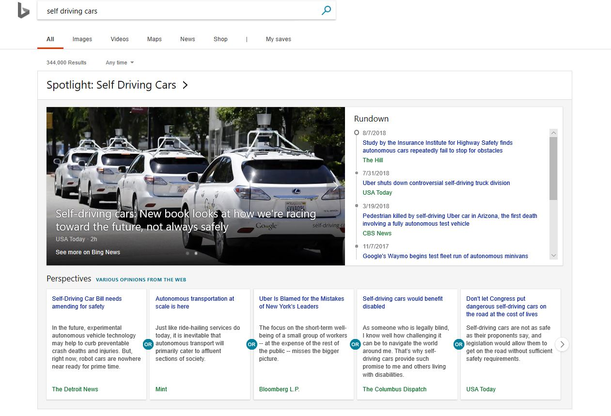 microsoft bing s new spotlight feature provides overviews of news