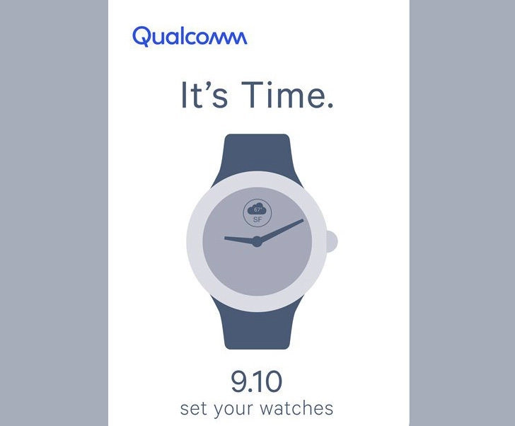 Qualcomm might be launching a new smartwatch chip on September 10th