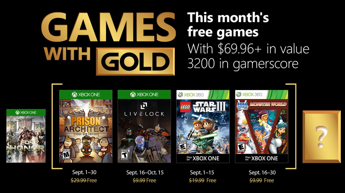 Xbox Games with Gold September 2018: Prison Architect and Livelock
