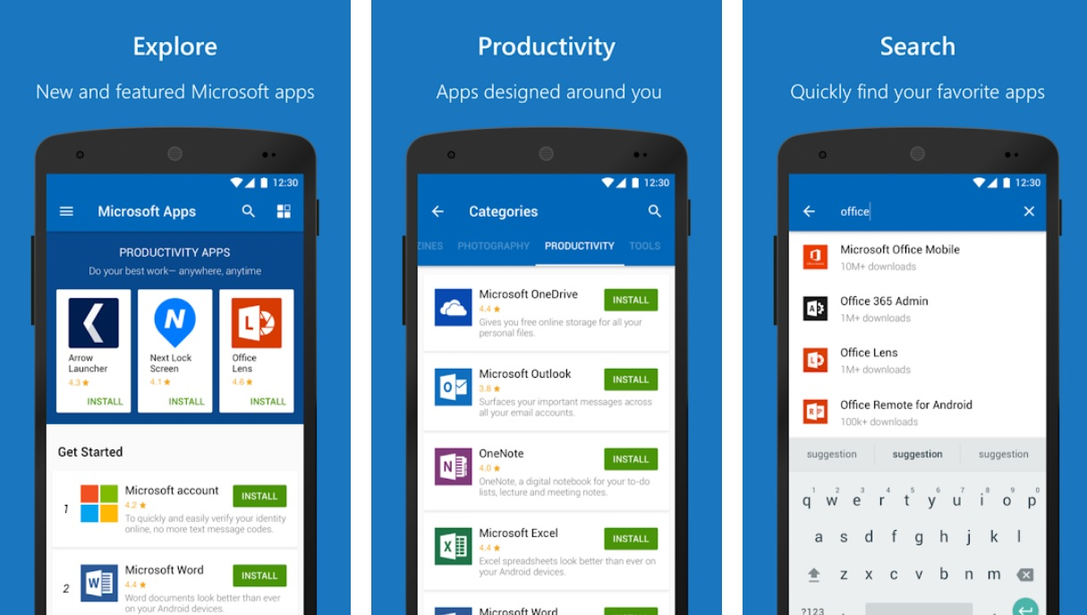 Image result for microsoft support android App