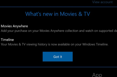 microsoft movies and tv app