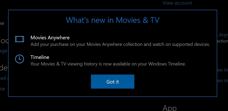 Microsoft's Movies and TV app now supports Windows Timeline 2
