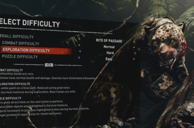 Shadow of the Tomb Raider lets players independently select combat, puzzle, and exploration difficulties 32