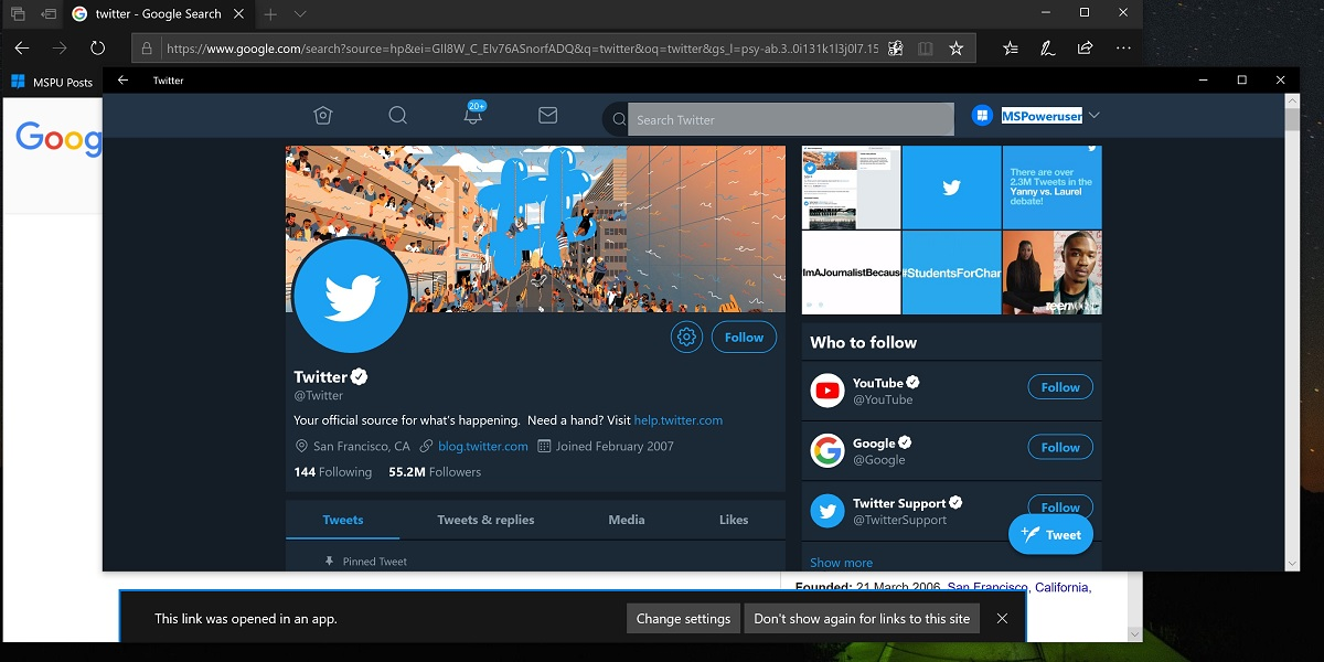 Twitter app for Windows 10 updated with advanced Windows 10