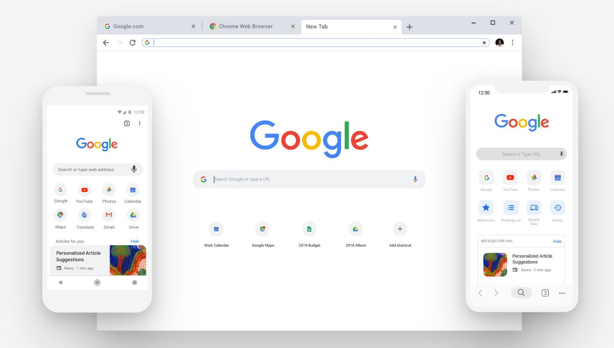 The tile-view for shortcuts in Chrome's New Tab Page could