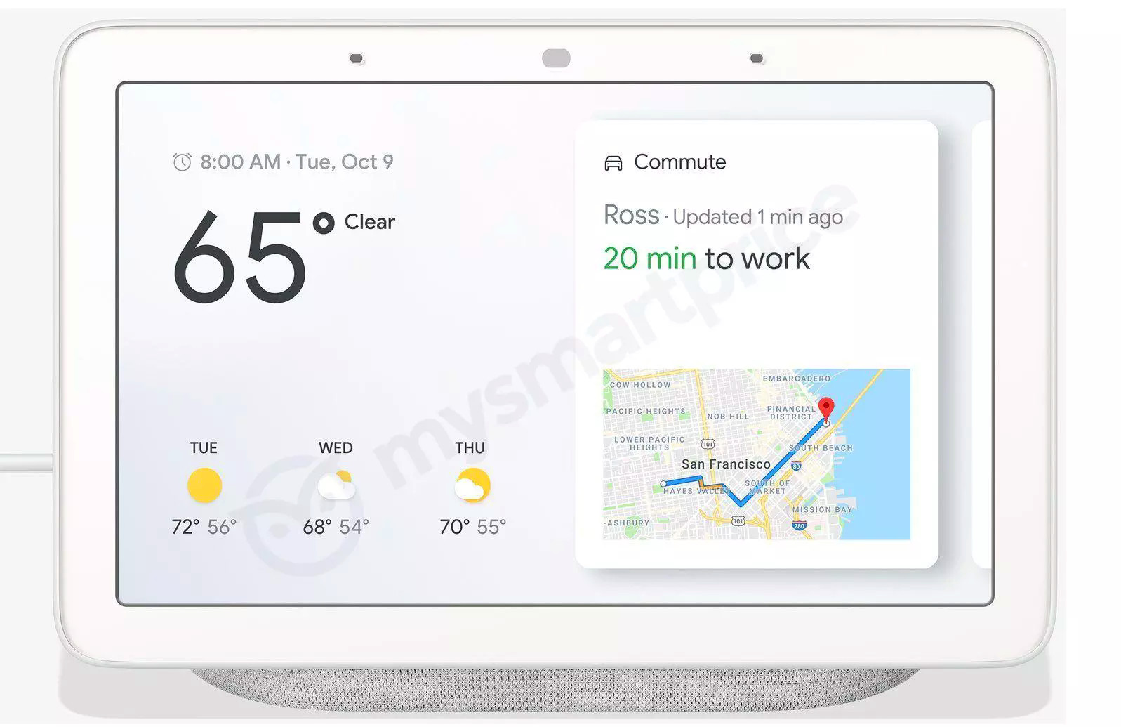 Google Smart Display 'Home Hub' render and pricing surfaces