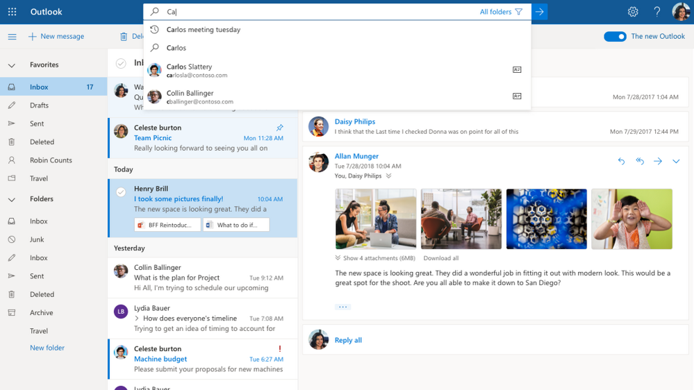 microsoft today announced that it will start the rollout of new outlook web experience for office 365 customers who are on the targeted release next week