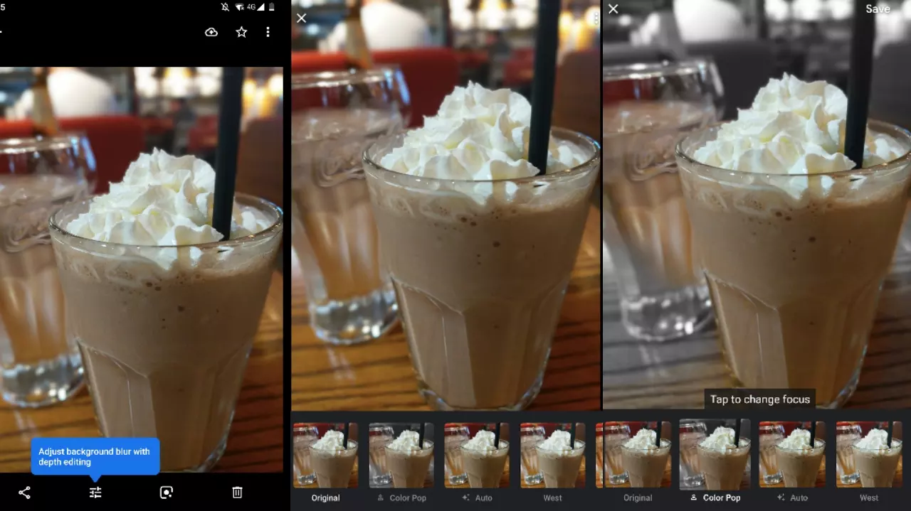 Google might be testing a way to add bokeh effect manually to old