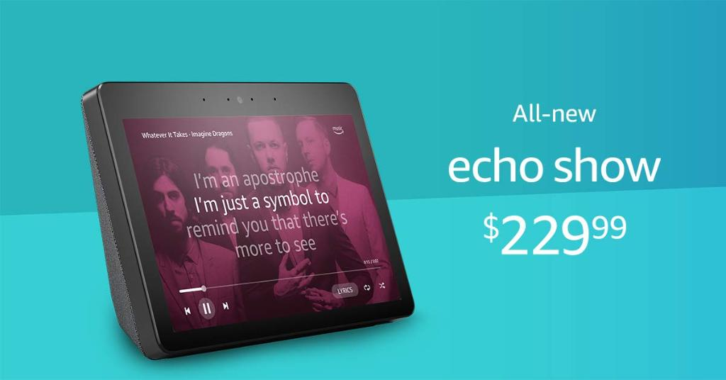 Amazon's new Echo Show features bigger screen, 8 mics and finally a browser 1