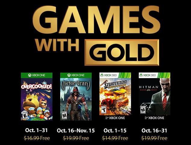 October S Games With Gold Include Overcooked And Hitman Blood Money Mspoweruser