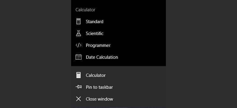 Jump Lists for Windows 10 Calculator mooted - MSPoweruser