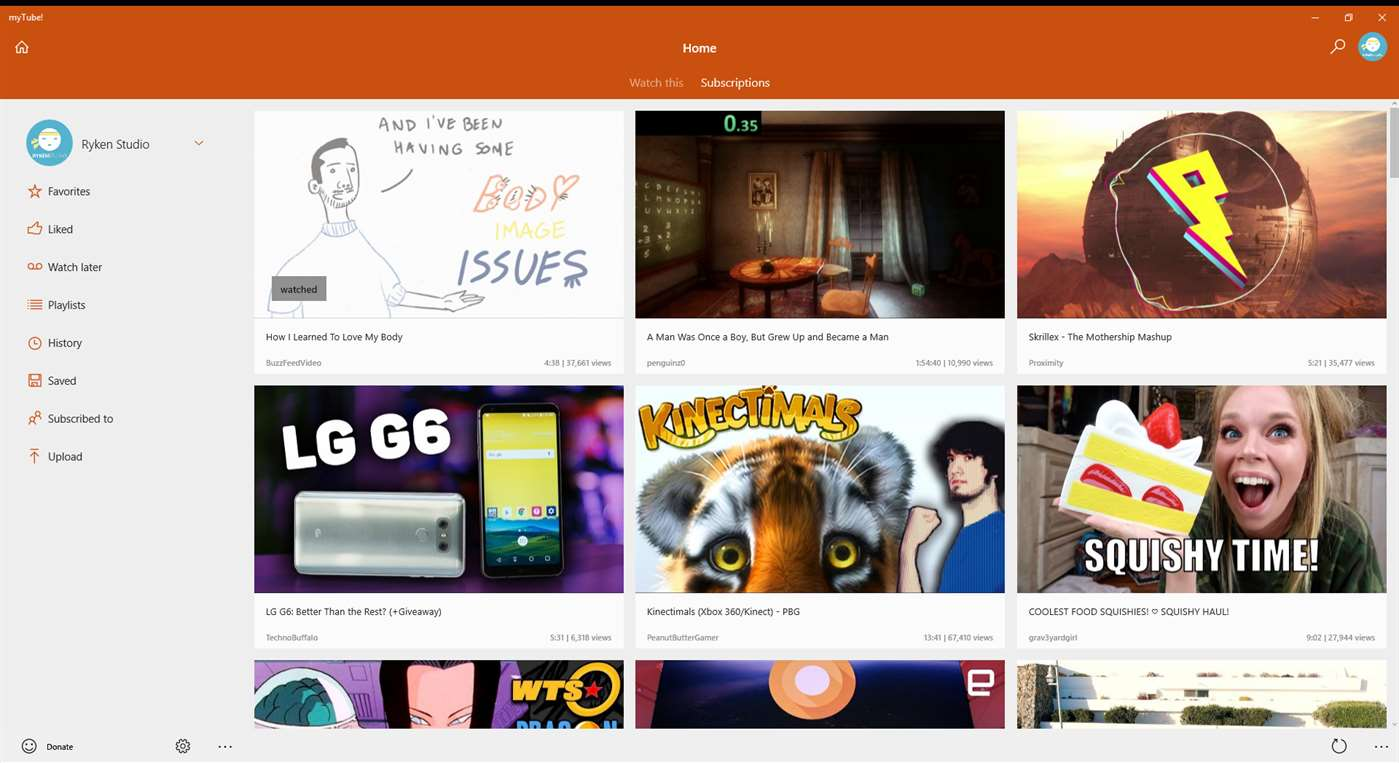 MyTube Windows 10 YouTube updated with fixes and