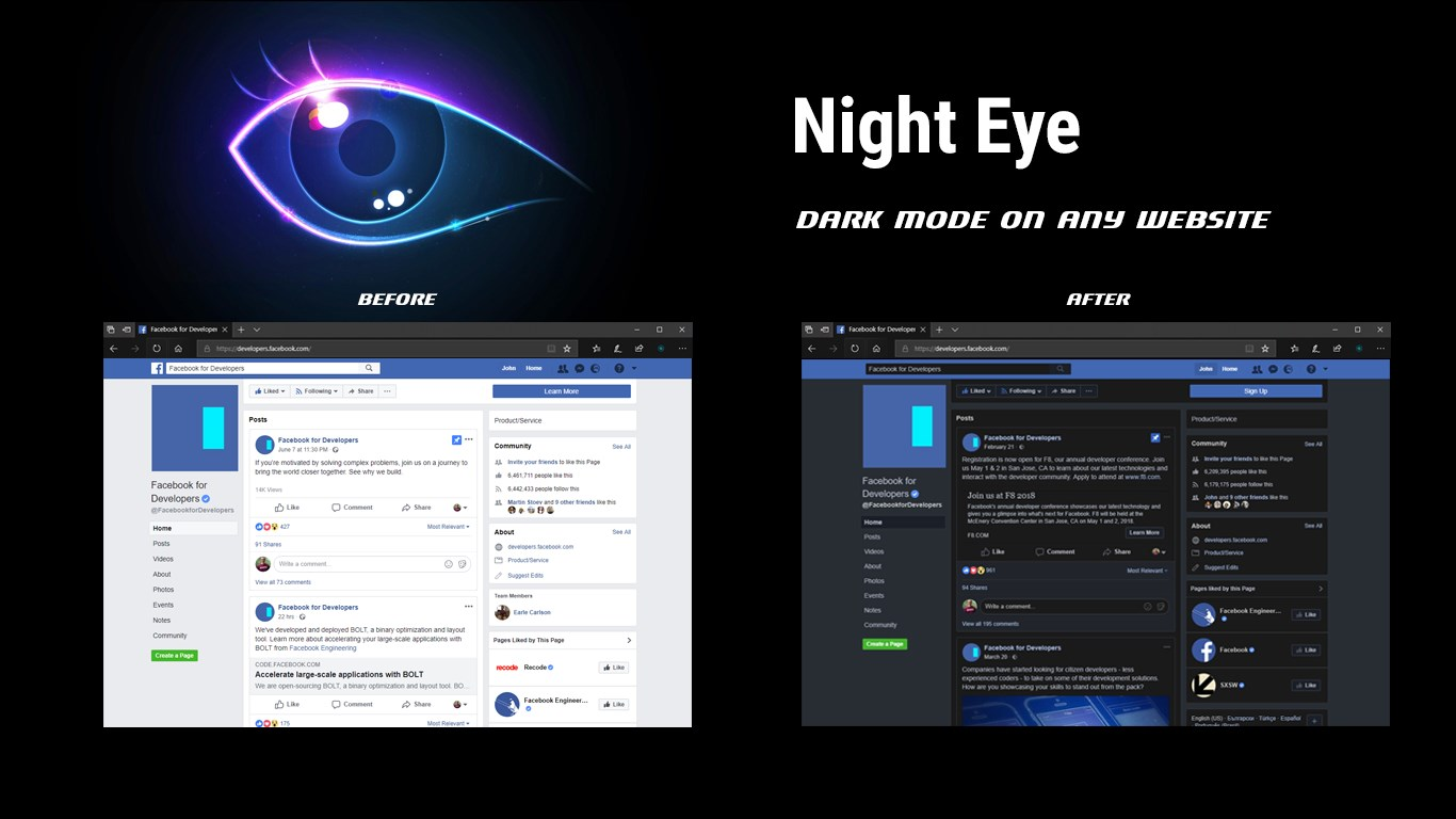 Night Eye For Edge Extension Brings Dark Mode To Any