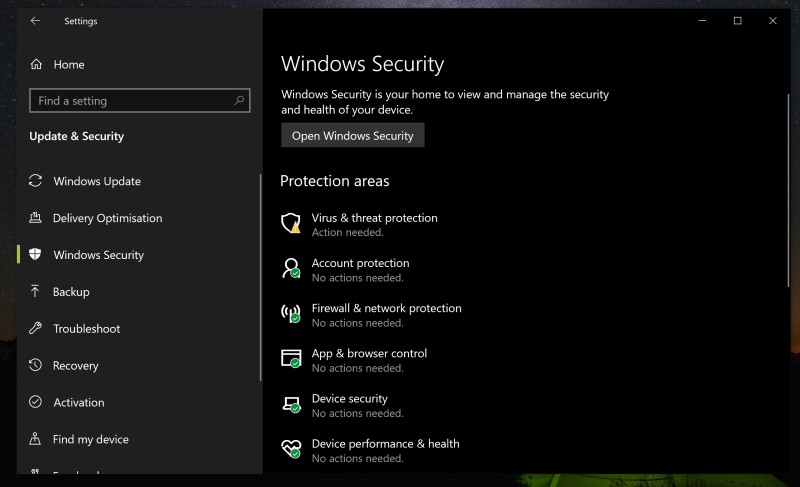 Getting false positives? Here's how to add exemptions to Windows Defender's Scan 1