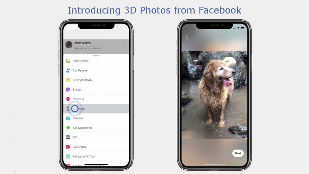 Facebook is rolling out 3D Photos on both VR and Facebook 1