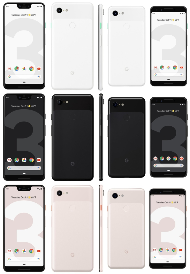 A bug in Pixel 3 XL shows a second notch on the side of the device