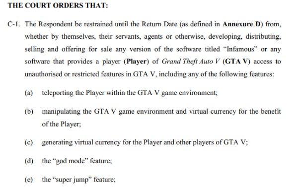 GTA V cheat creators' assets frozen through court order
