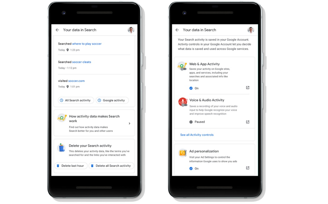 Google makes it easier to clear your recent Search activity