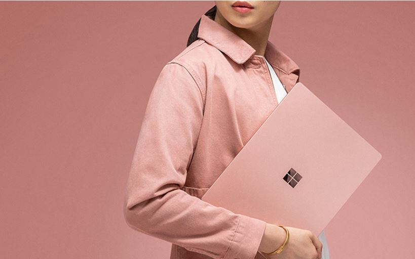 Microsoft Launches Blush Color Surface Laptop 2 In China