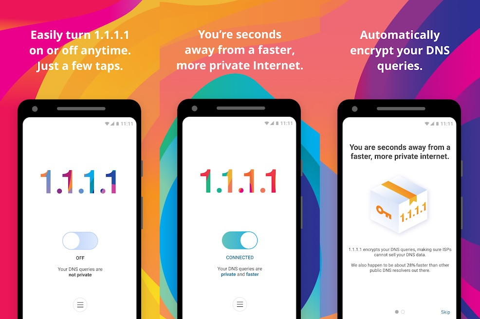 Make your internet speed faster using 1.1.1.1 DNS resolver app for iOS and Android 1