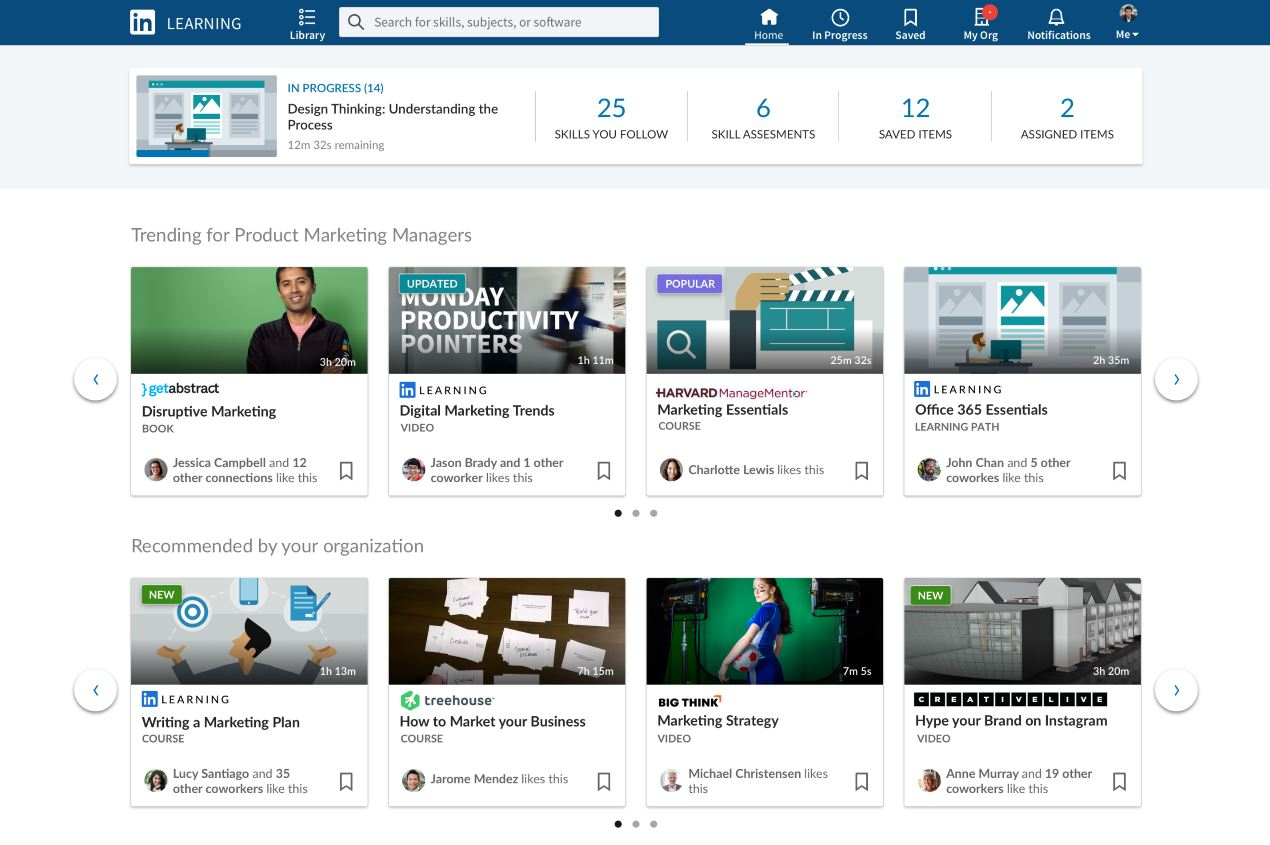 LinkedIn Learning wants to be your organization's single place for learning content 1