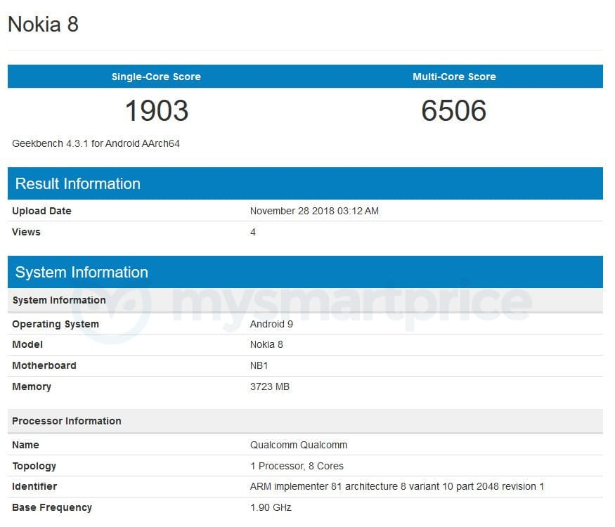 Android Pie estaría preparado para el Nokia 8 1