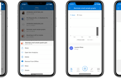 Microsoft brings updated MyAnalytics feature to OneDrive for iOS and Android apps 10