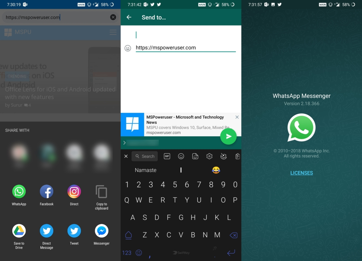 WhatsApp will now allow users to preview text before forwarding it to multiple users 2