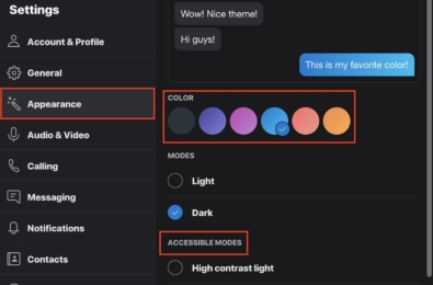 Latest Skype Insider Preview build brings redesigned theme picker and new color gradients 1