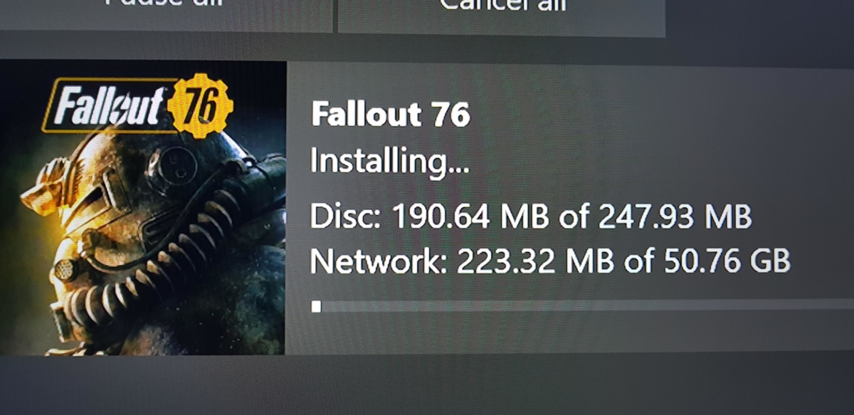 Fallout 76 only has 247 megabytes of data on the disc