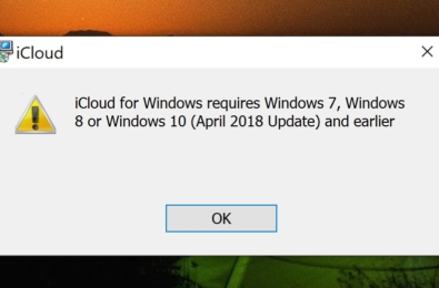 iCloud now supports Windows 10 October 2018 Update 17